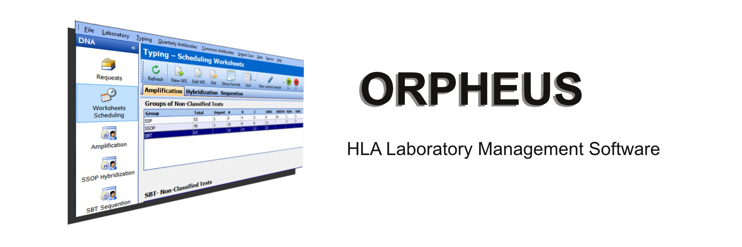 ORPHEUS - HLA Laboratory Management Software